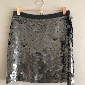 NWT Black Sequin (large disk) Mini Skirt